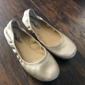 Lucky Brand Gold Leather Ballet Flats